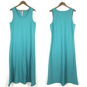 Magic Teal Textured Maxi Dress